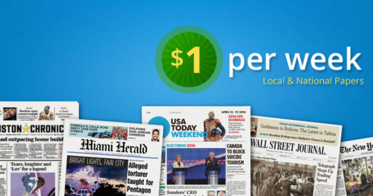 Discount Newspaper Subscriptions