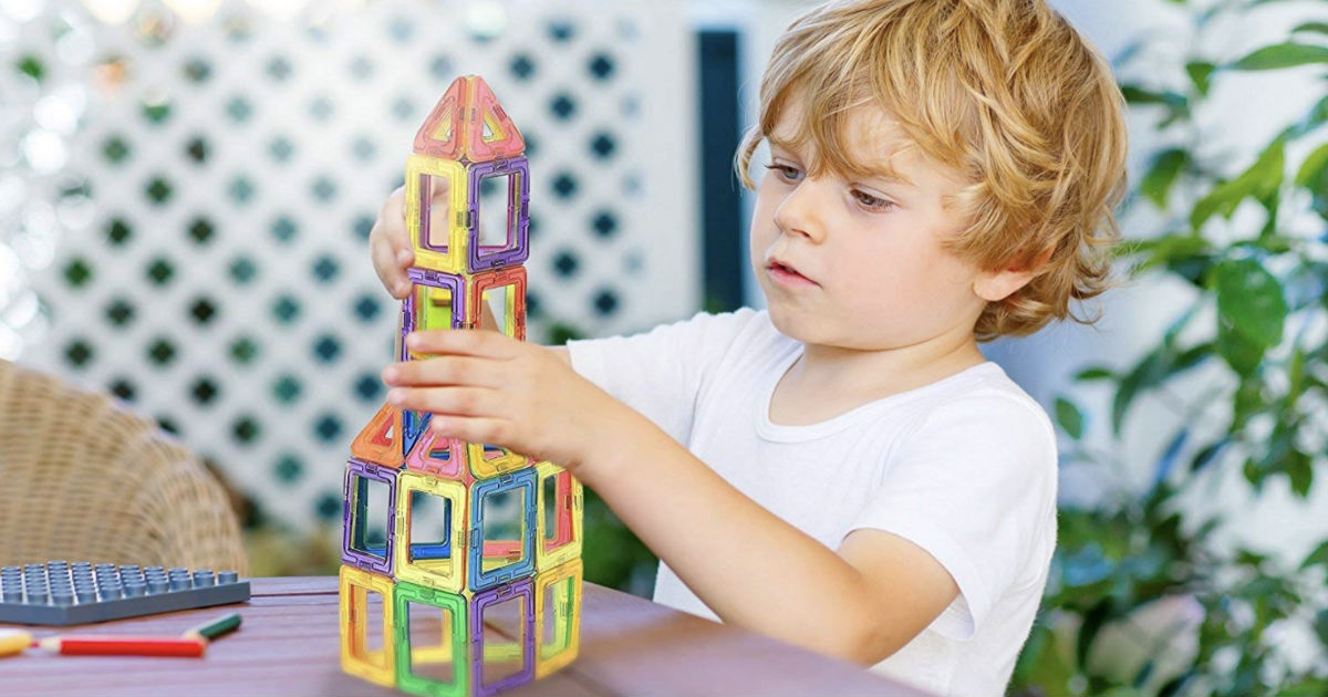 Manve 40-Piece Magnetic Building Block Set ONLY $16.89 Shipped