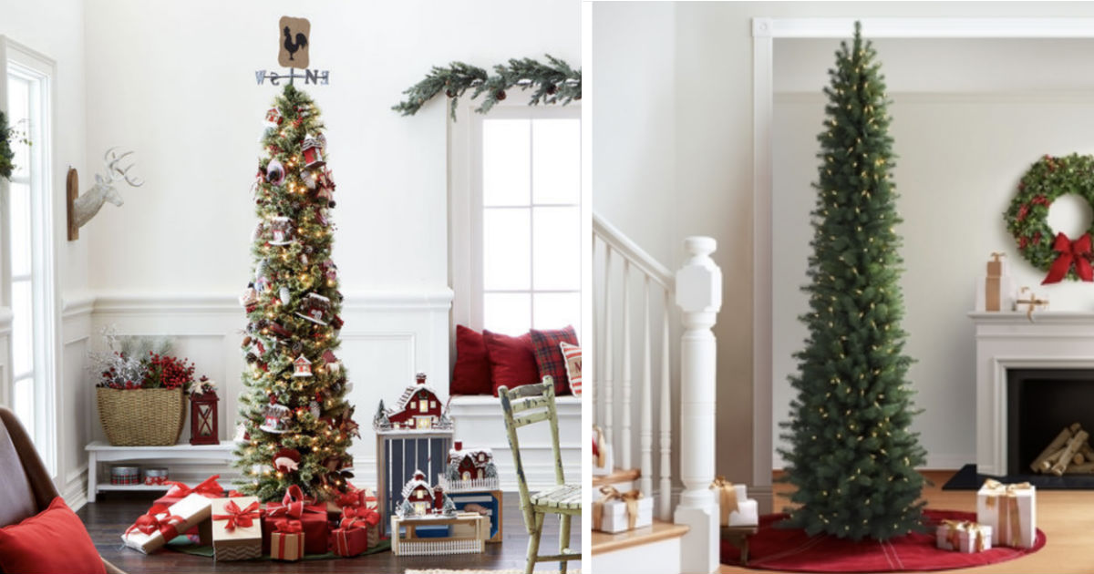7 Ft Pre Lit Pencil Christmas Tree Only 39 99 Regularly 100