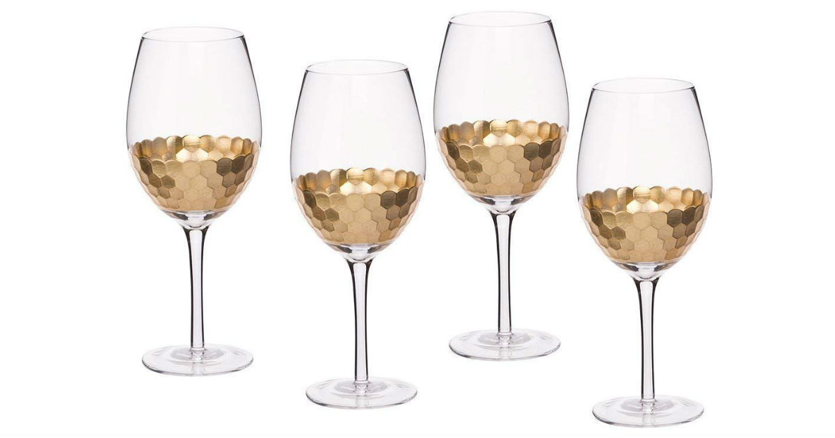 Save 56% on Gold Plated Wine Glasses ONLY $19.59 (Reg. $45)