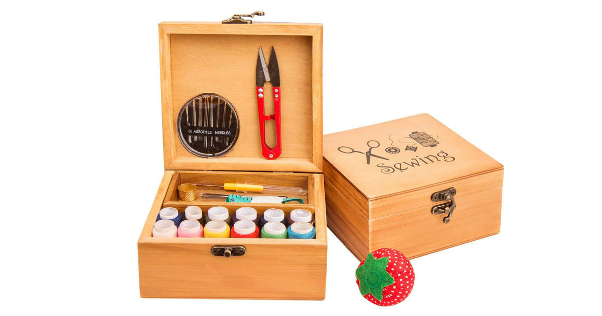 Save 79%: Wooden Sewing Box ON...