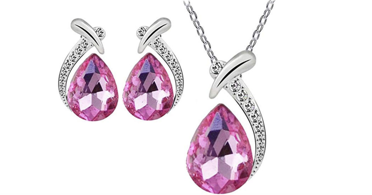 Necklace Stud Earring Jewelry Set by ZYooh ONLY $3.96 Shipped