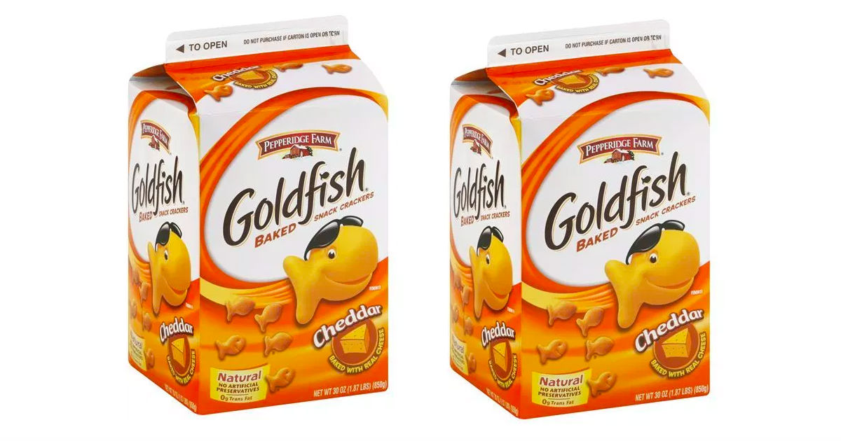 Pepperidge Farm Goldfish Crackers 30-Ounce ONLY $4.89 at Target