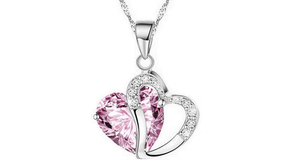 Crystal Rhinestone Silver Chain Pendant Necklace ONLY $4 Shipped