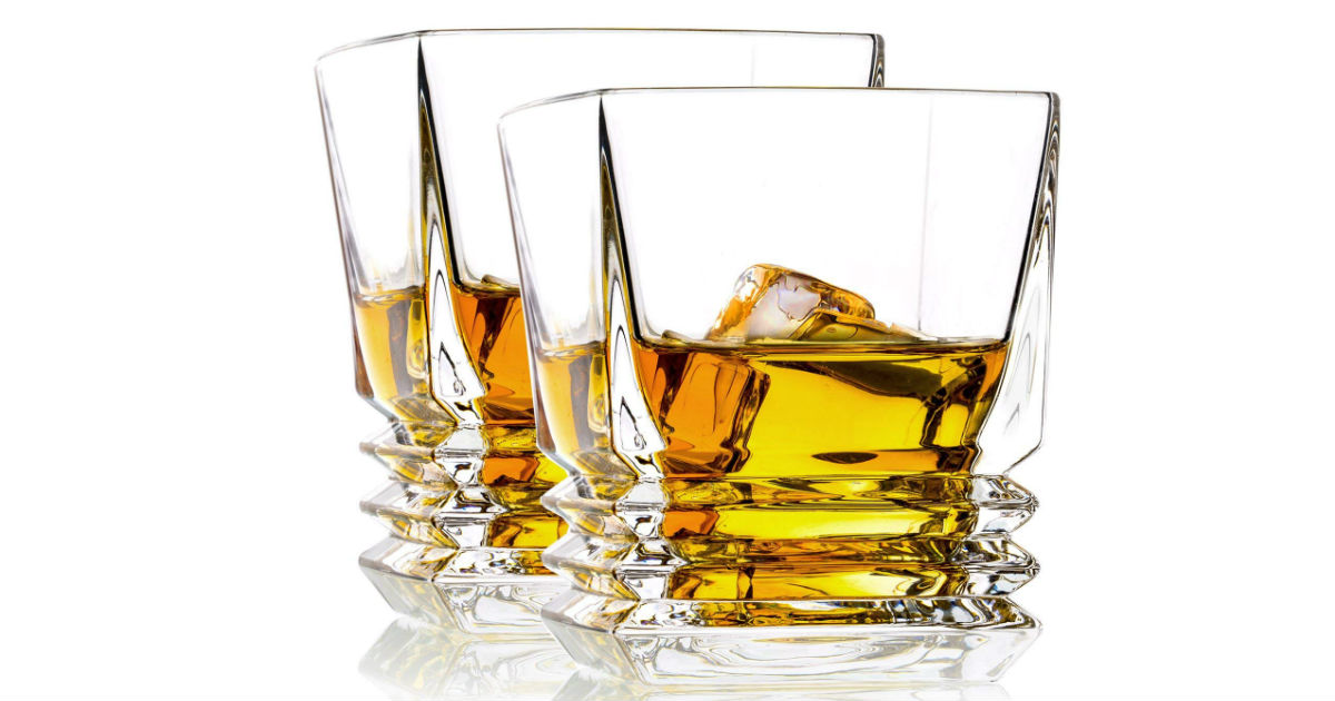 Save 54% on Old Fashioned Whiskey Glasses ONLY $12.80 (Reg. $28)