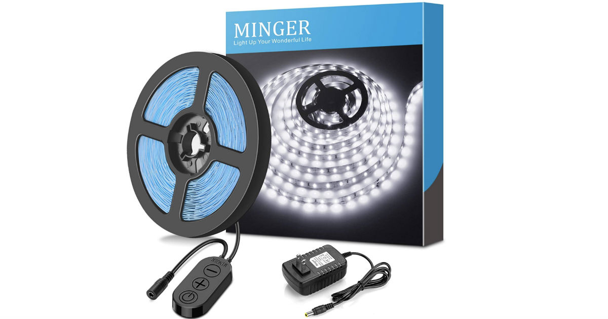 MINGER Dimmable LED Light Strip Kit ONLY $8.49 at Amazon