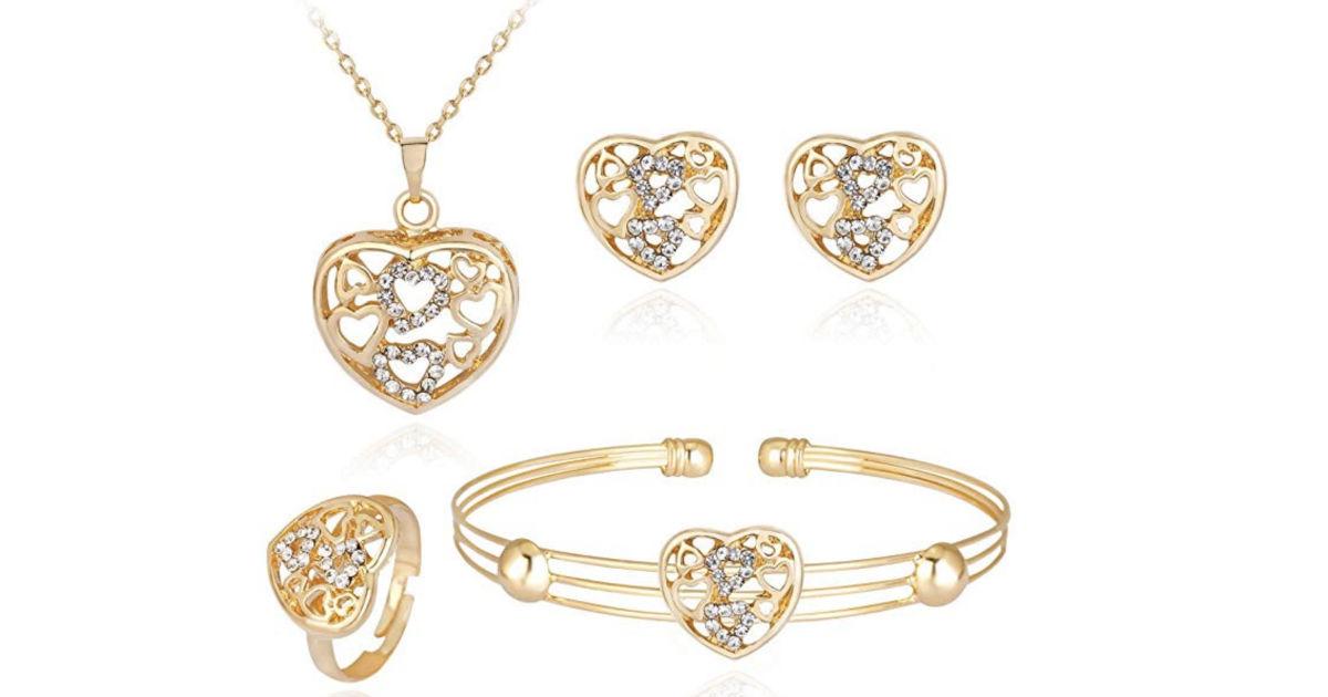 iLH Rhinestone Jewelry Sets 4-Piece ONLY $4.99 Shipped