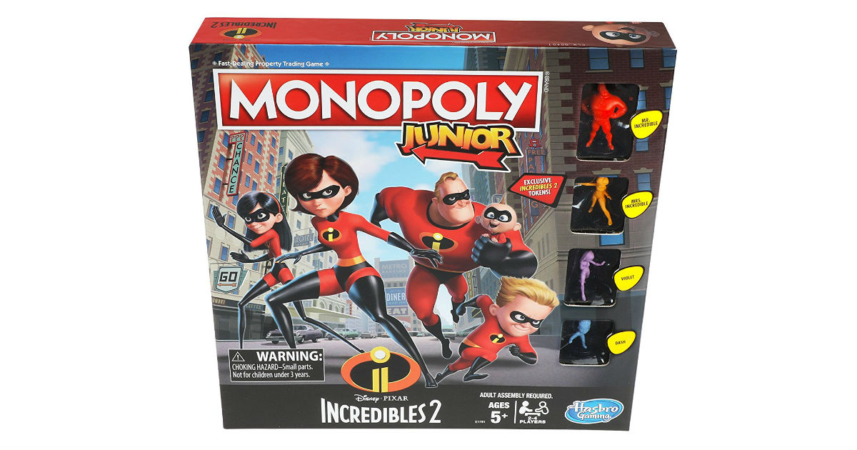 Monopoly Junior Incredibles 2 Edition ONLY $9.79 (Reg. $17)