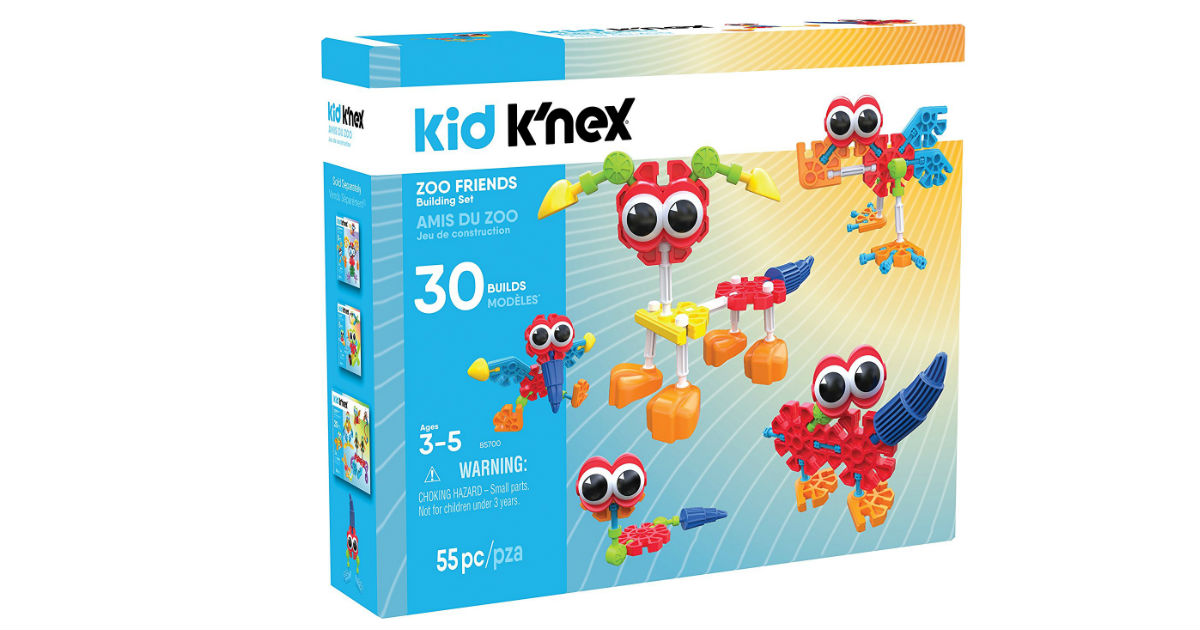 Save 53% on K'Nex Zoo Friends ONLY $11.85 on Amazon (Reg. $25)