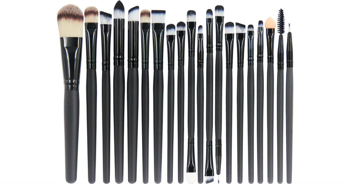 20-Piece Makeup Brush Set ONLY $6.99 on Amazon