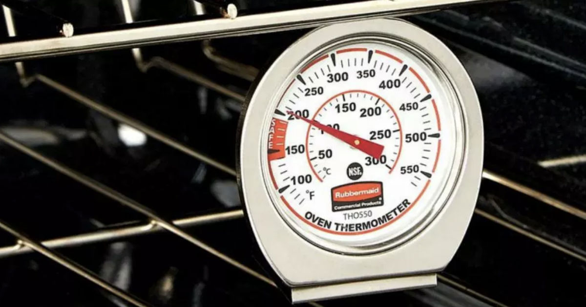 Rubbermaid Stainless Steel Oven Monitoring Thermometer ONLY $5