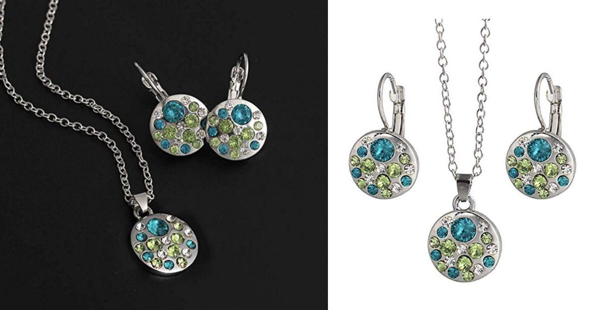 Women Trendy Rhinestone Jewelry Set ONLY $3 Shipped