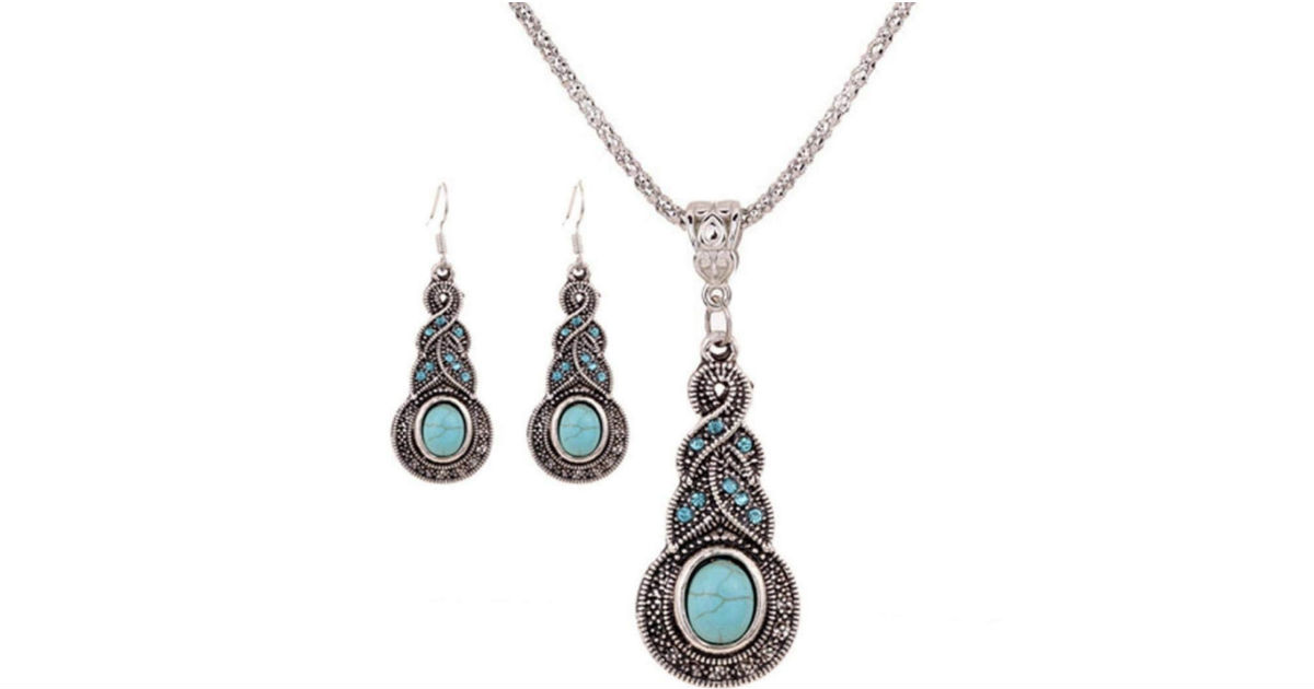 Waroomvan Necklace and Earrings Jewelry Set ONLY $4 Shipped