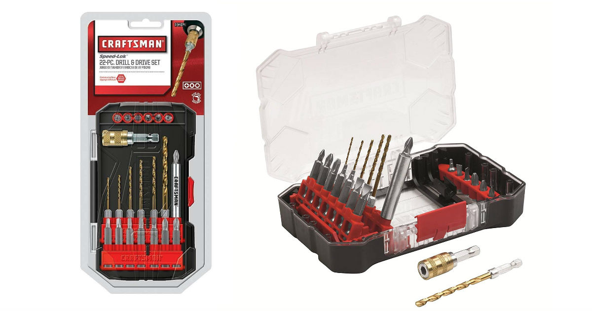 Craftsman Drill/Driver Bit Set on Amazon