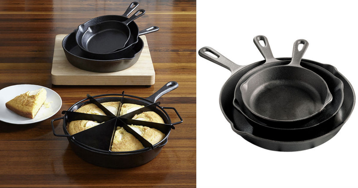 Cooks Cast Iron Skillets Set ONLY $6.99 (reg $60) at JCPenney