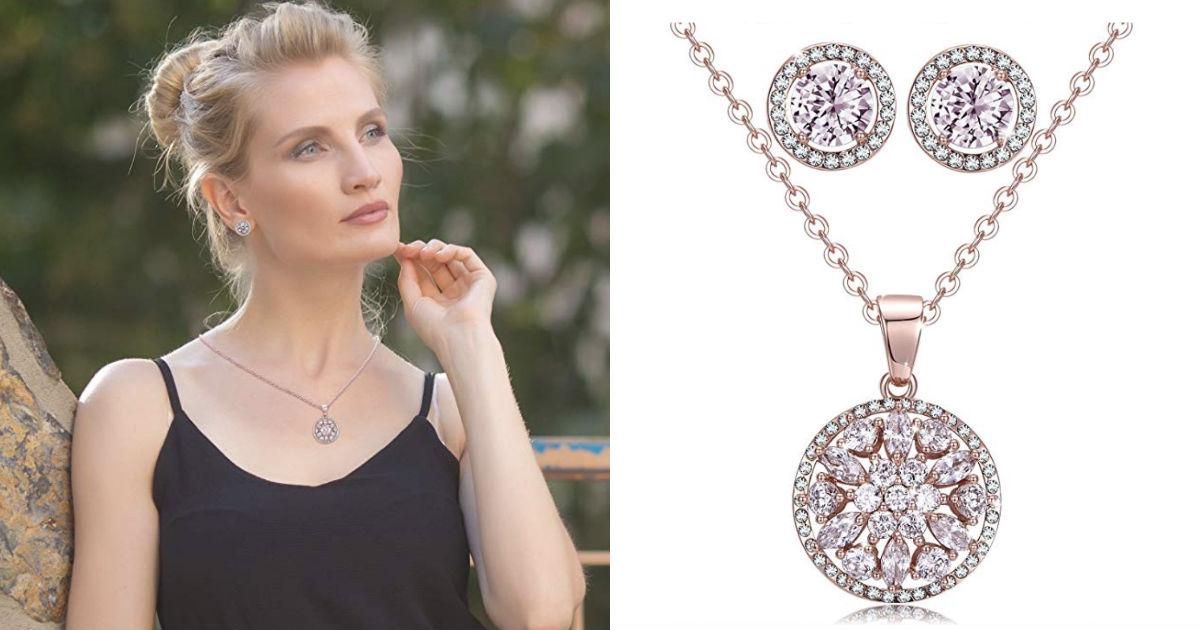 Women Necklace Earring Set-Gif...
