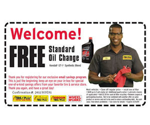 Tires Plus Free Standard Oil Change With Coupon Free Stuff