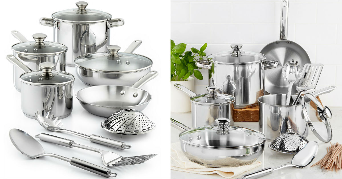 Tools of the Trade 13-Piece Cookware Set ONLY $29.99 (Reg $120)