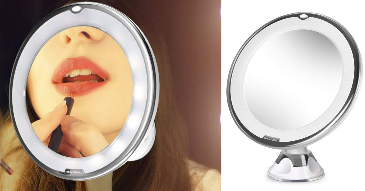 Magnifying 10x Lighted Vanity Mirror Only $13.85 Shipped
