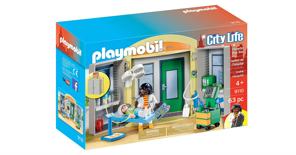 Save 50% on Playmobil Hospital Play Box ONLY $9.99 (Reg. $20)