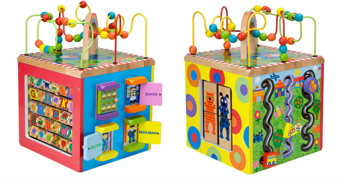 Save 69% on Alex Wooden Activity Cube ONLY $33.80 (Reg. $110)