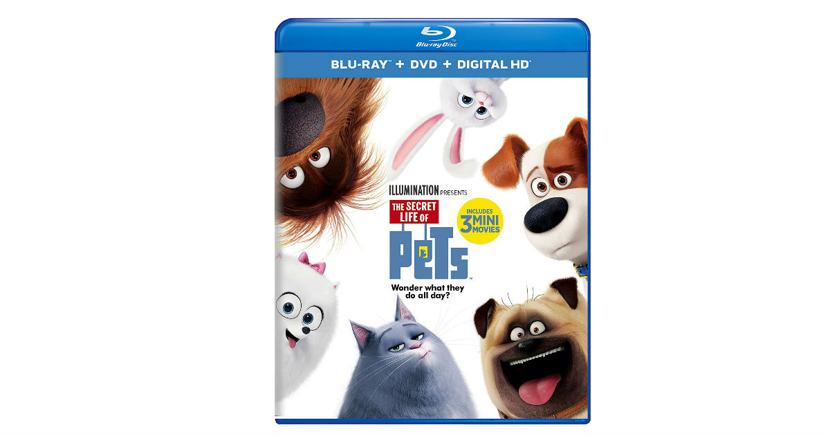The Secret Life of Pets on Blu-ray DVD ONLY $5.99 Shipped