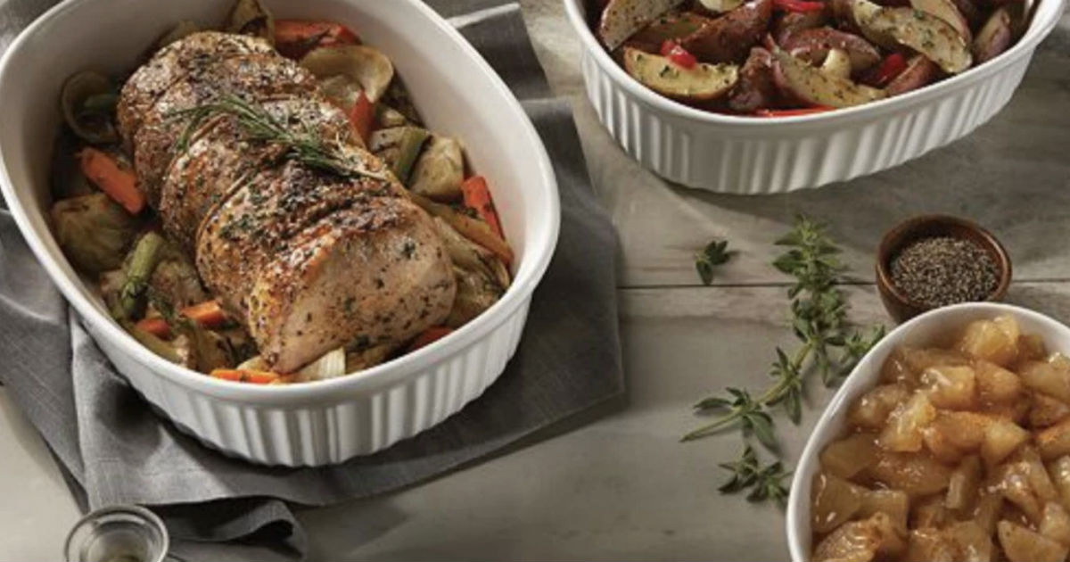 Corningware French White 10-Piece Bakeware Set ONLY $34.99