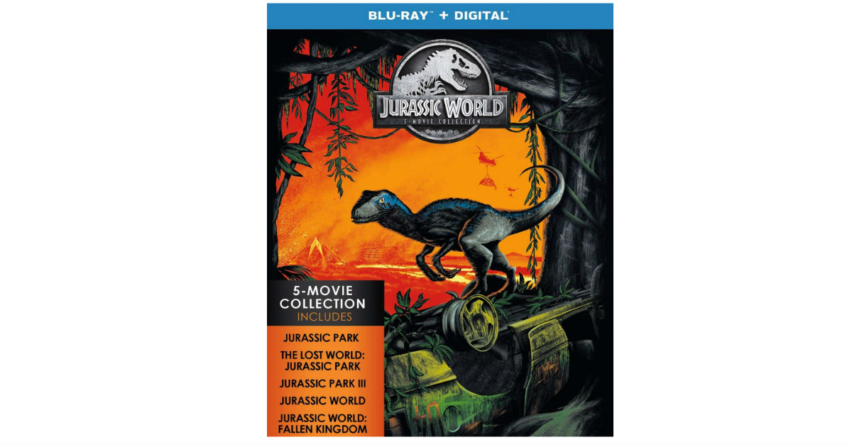Jurassic World Blu-ray 5-Movie Collection ONLY $5.60 Per Movie