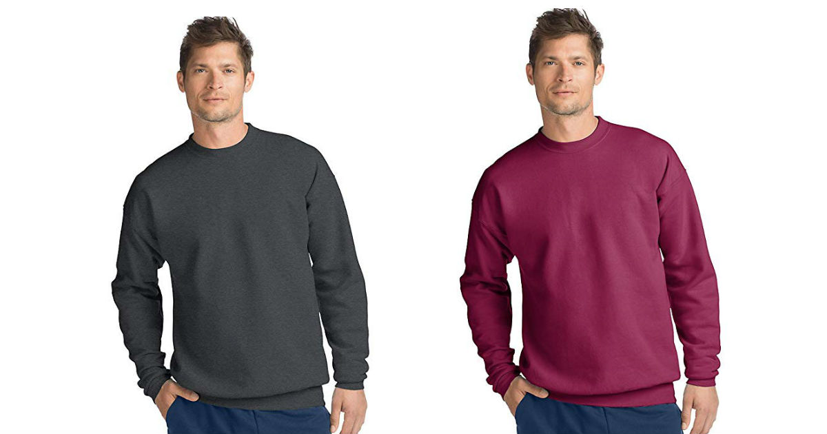 Hanes Men's Sweatshirt ONLY $7...