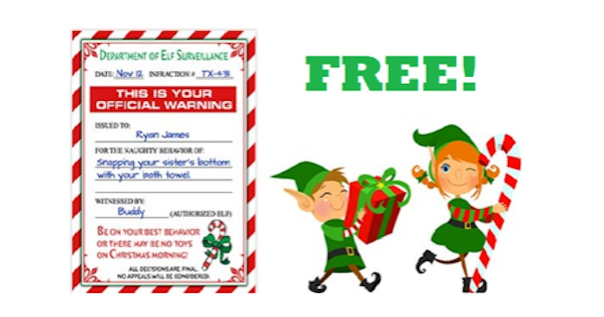 Print a FREE Elf Surveillance.