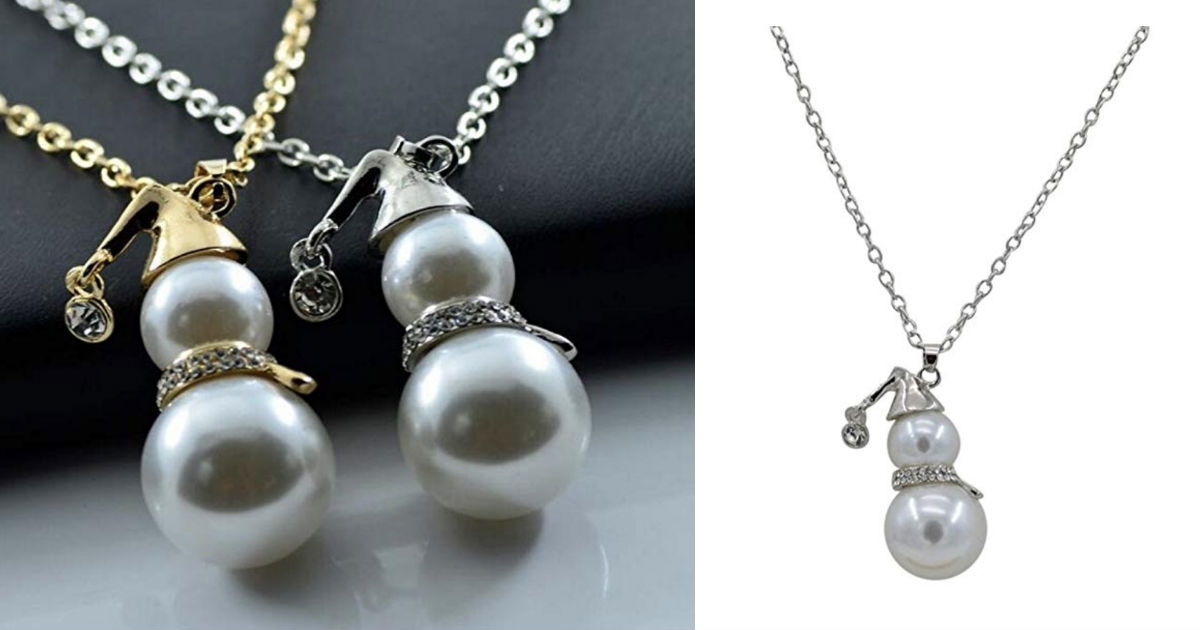Pearl Jewelry Cute Snowman Pen...