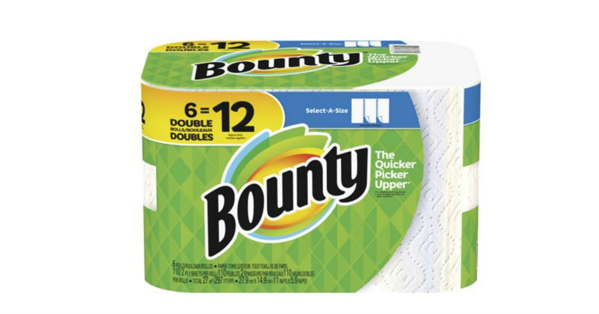 Free Bounty Paper Towels 6-Pack at Walmart ($9.97 Value)