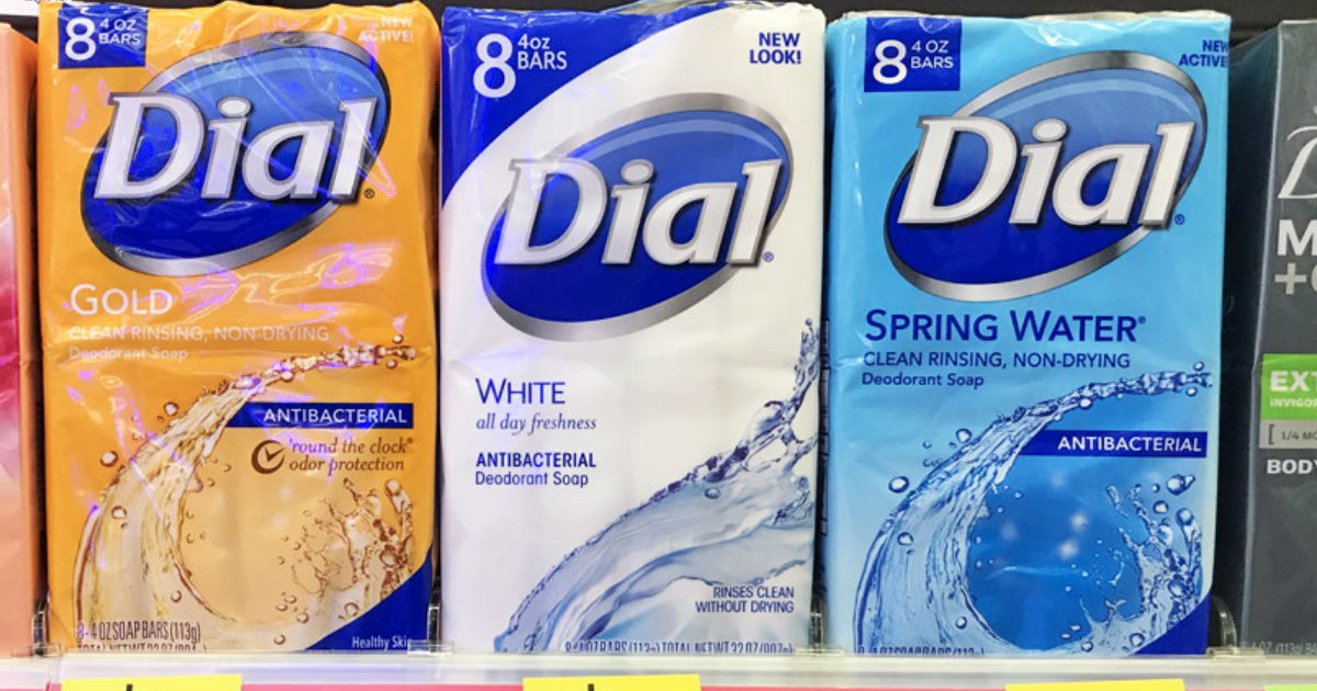 Dial Deodorant Soap 8-Pack ONLY $2.25 at Walgreens
