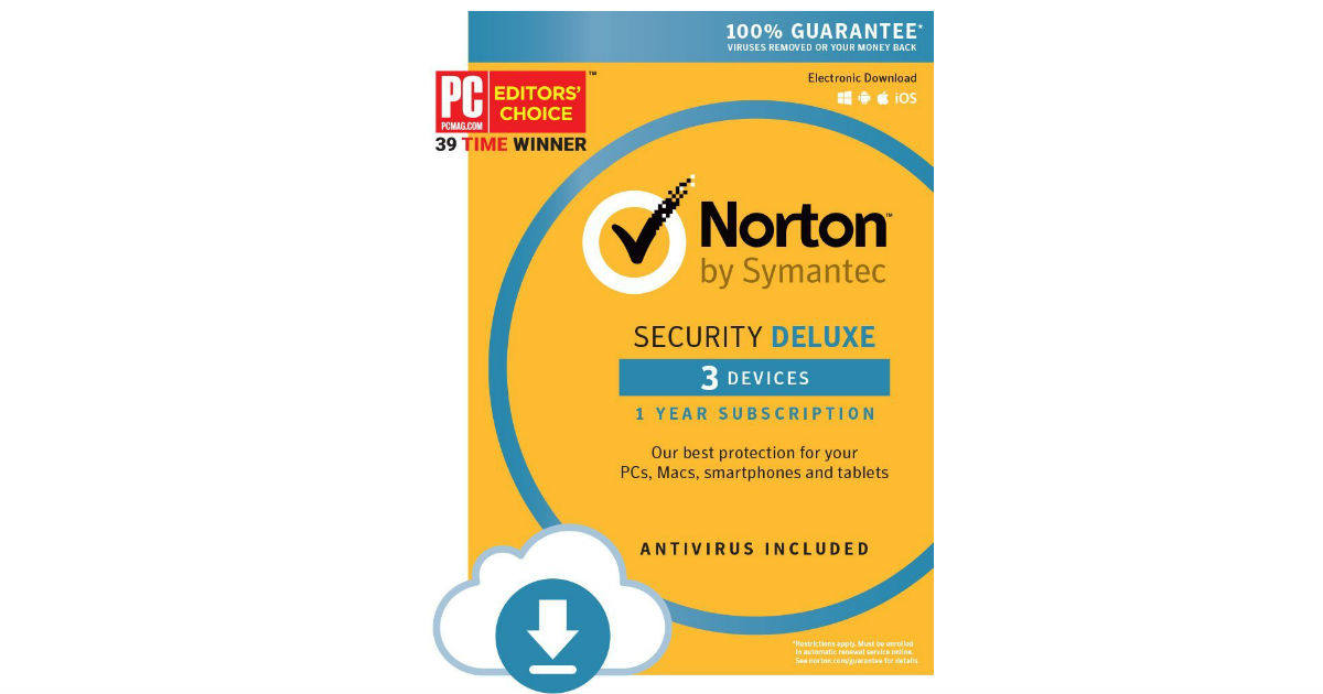 Save 71% on Norton Security Deluxe ONLY $19.99 (Reg. $70)
