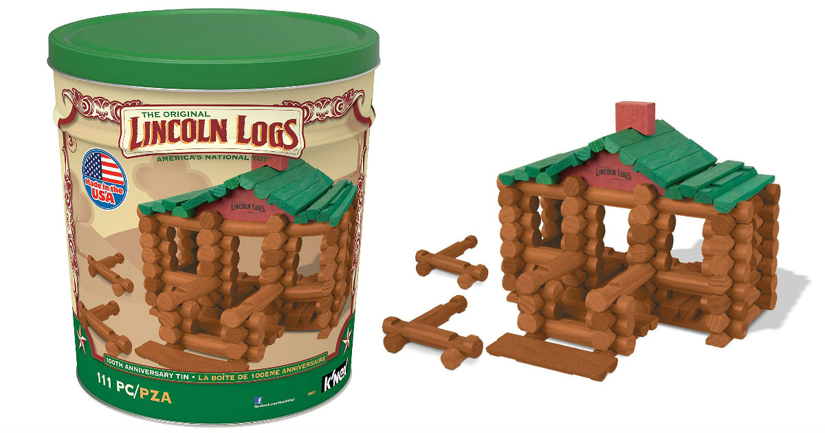 Lincoln Logs 100 Anniversary Tin ONLY $24.99 (Reg. $42)