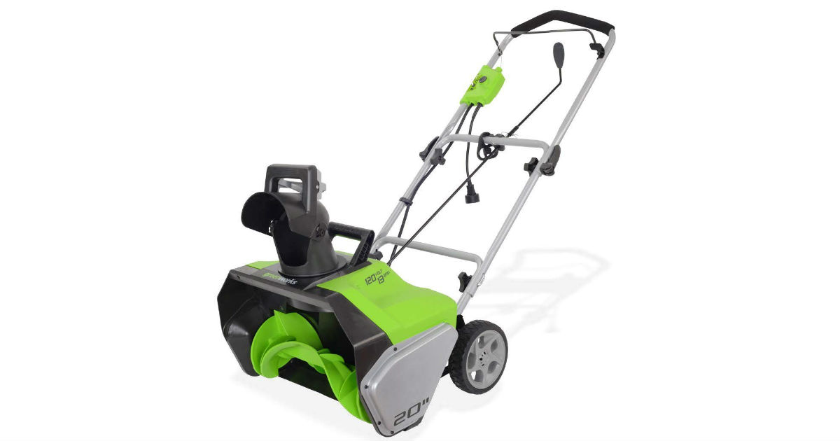 Save 49% on Greenworks Snow Thrower ONLY $100 (Reg. $199)