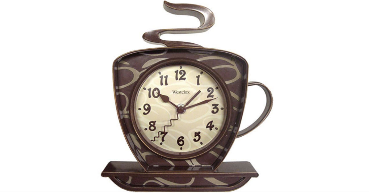 Coffee Time 3-D Wall Clock ONLY $4.13 (Regularly $15)