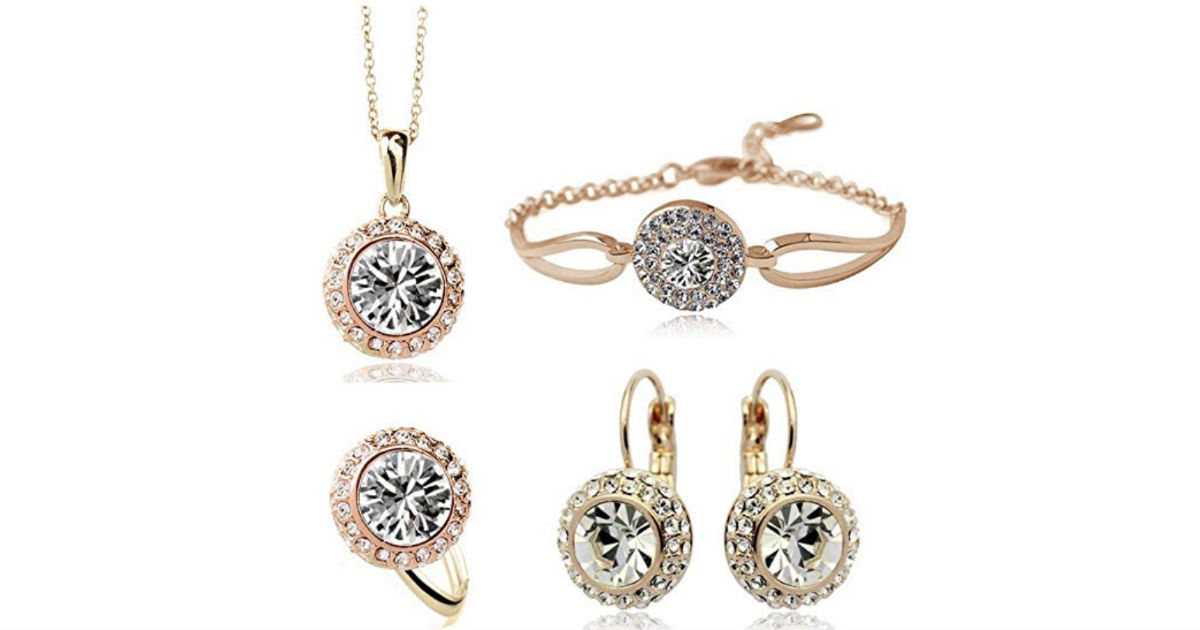 Beautiful Crystal Jewelry Set ONLY $7.99 Shipped