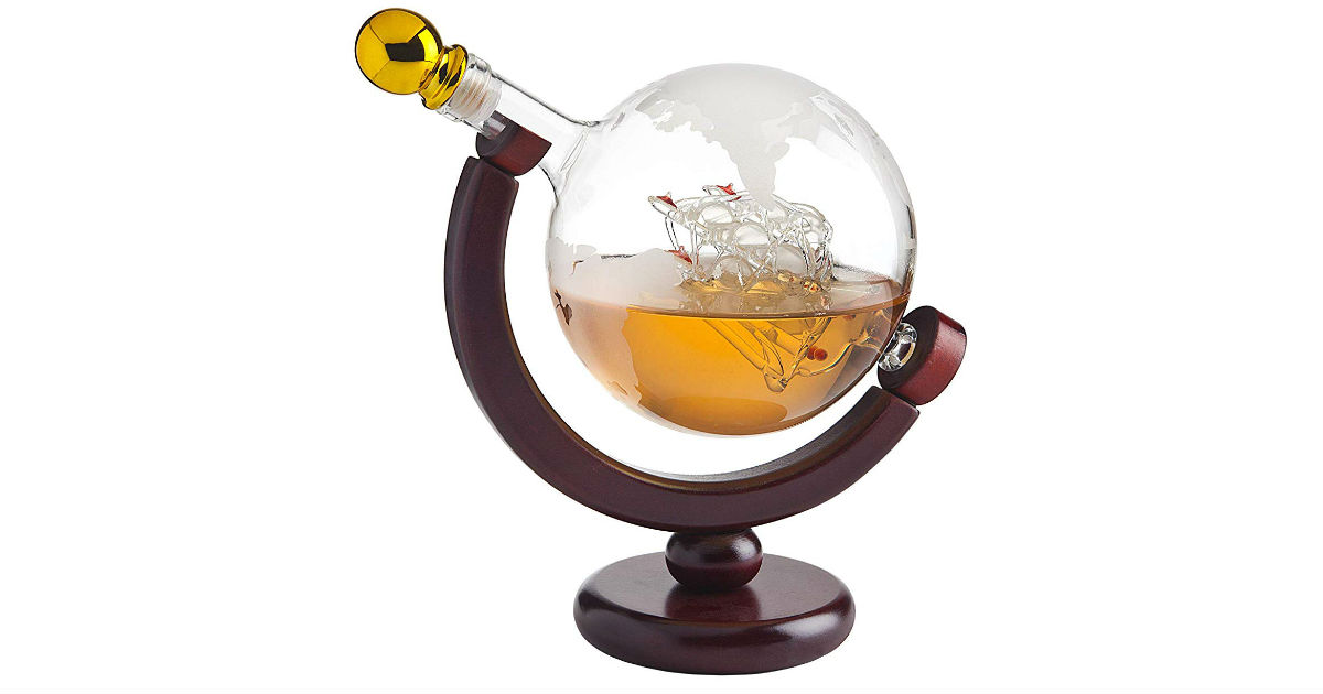 Save 43% on Globe Decanter with Glasses ONLY $50.95 (Reg. $90)