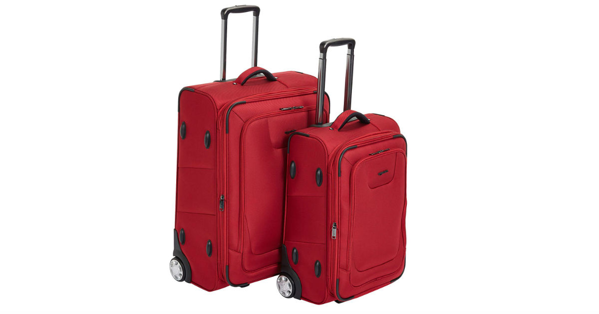 AmazonBasics Expandable 2-Piece Suitcase ONLY $89.99 (Reg. $140)