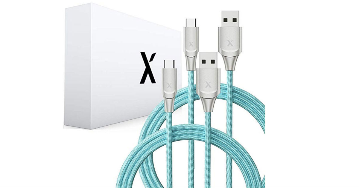 Xcentz 6 Foot USB Type C Cable 2-Pack Only $8.39 Shipped