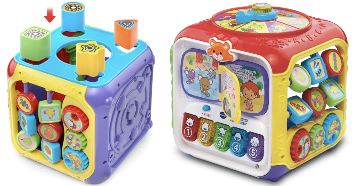 Vtech Sort Discover Activity Cube Only 14 88 Reg 30 Daily Deals Coupons