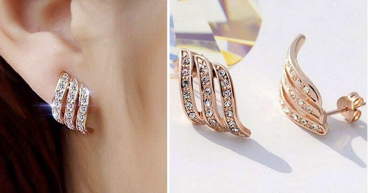 Rose Gold Diamond-studded Curv...
