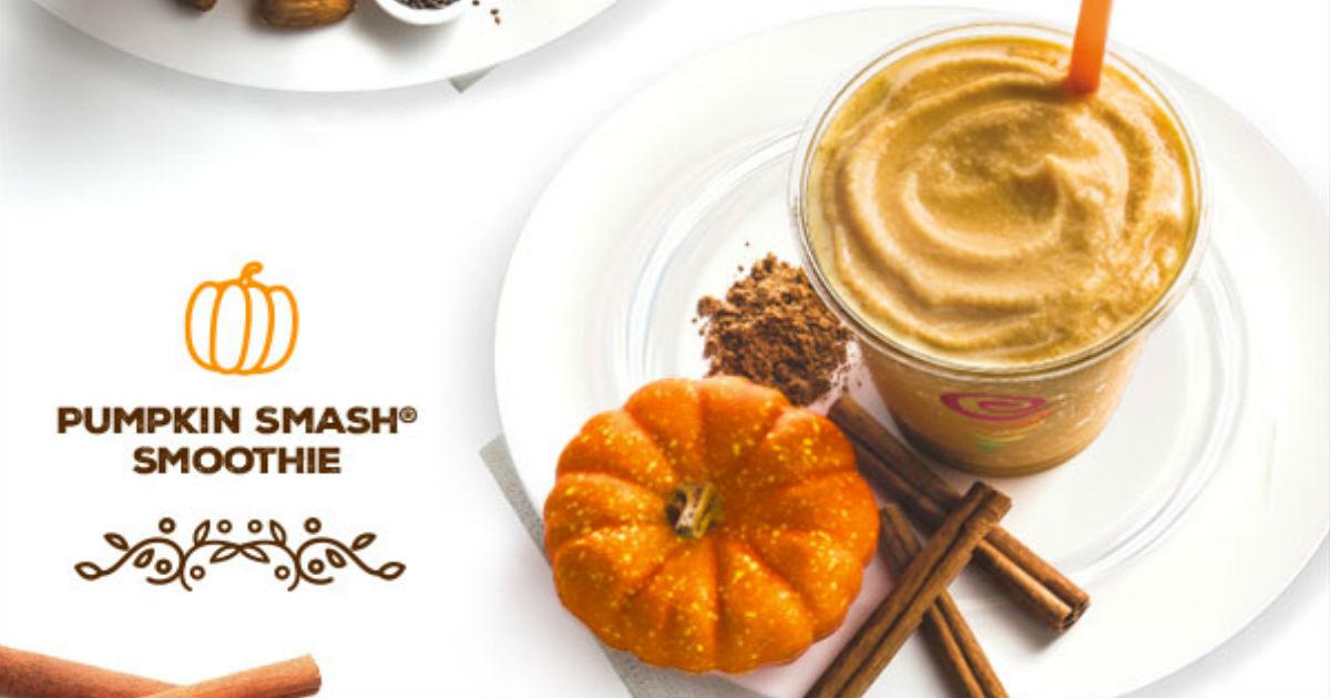 picture regarding Jamba Juice Printable Coupon known as Help save $2.00 upon Pumpkin Smoothies at Jamba Juice - Printable