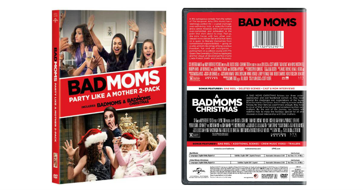 Bad Moms: Party Like a Mother 2-Pack ONLY $9.99 (Reg. $30)