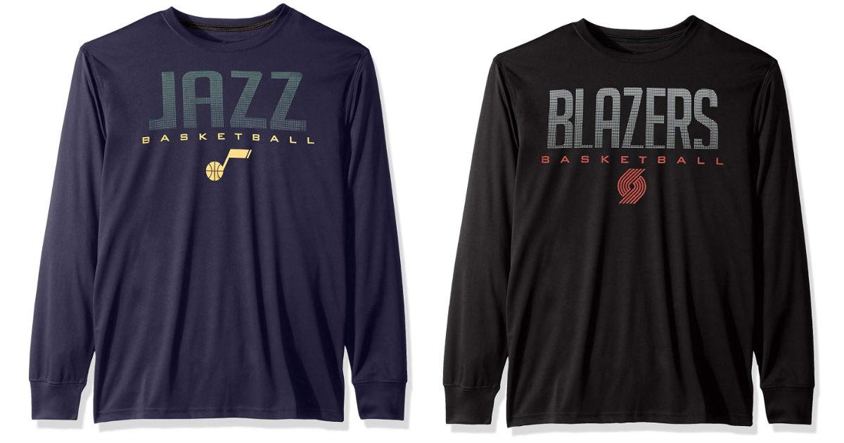 NBA Men's Quick Dry Long Sleeve T-Shirt ONLY $17.49