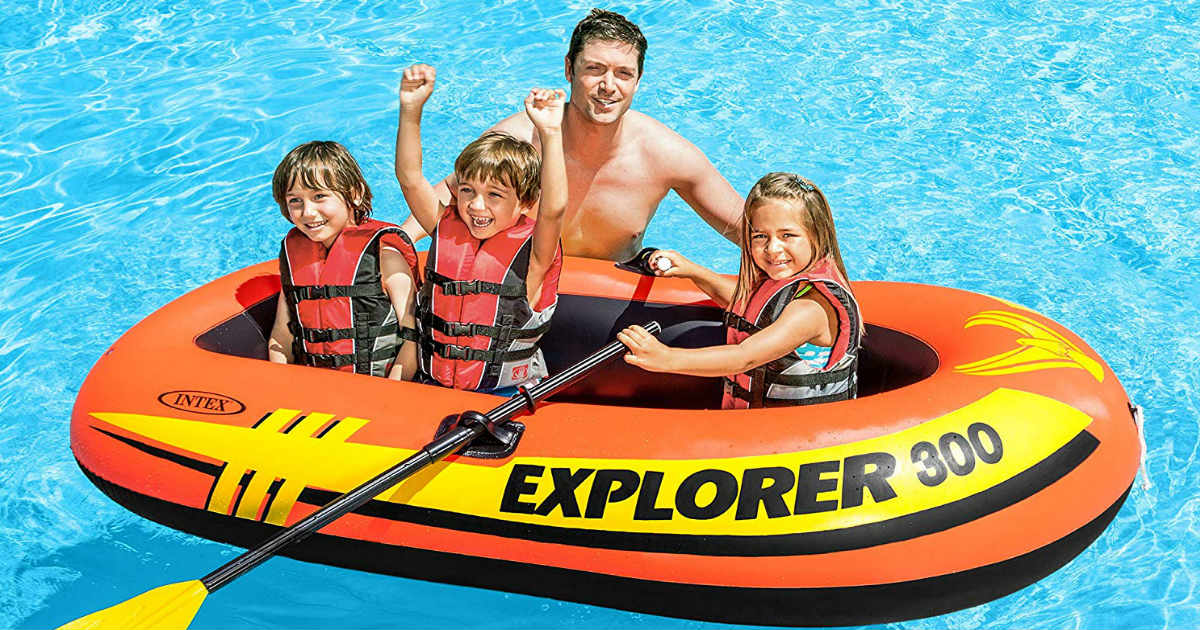 Intex 3-Person Inflatable Boat ONLY $16.61 (Reg. $48)
