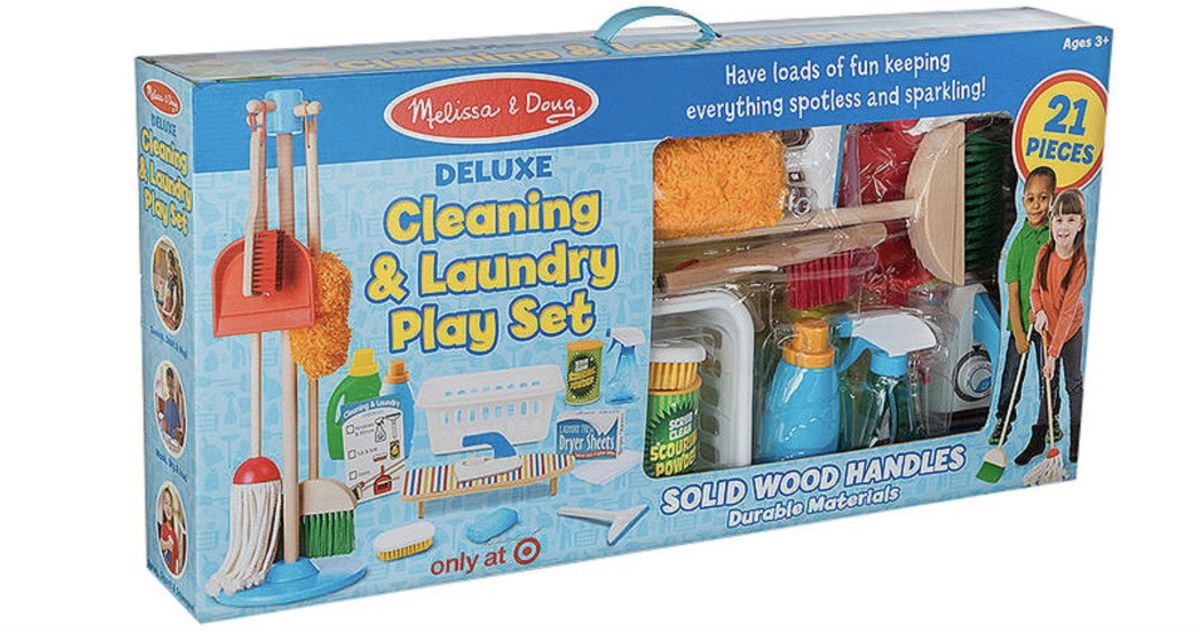Melissa & Doug Deluxe Cleaning Laundry Play Set ONLY $19.99 (Reg $80)