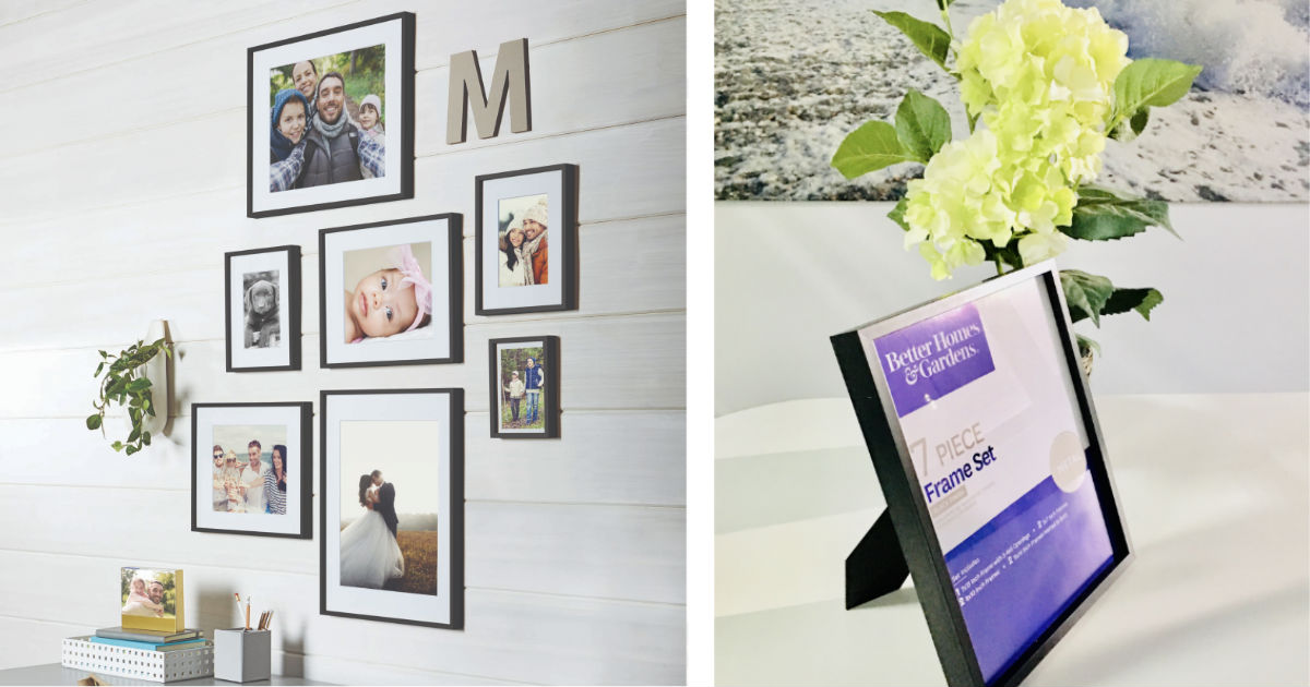 Better Homes & Gardens 7-Pc Photo Frame Set ONLY $12 ( Reg $40)