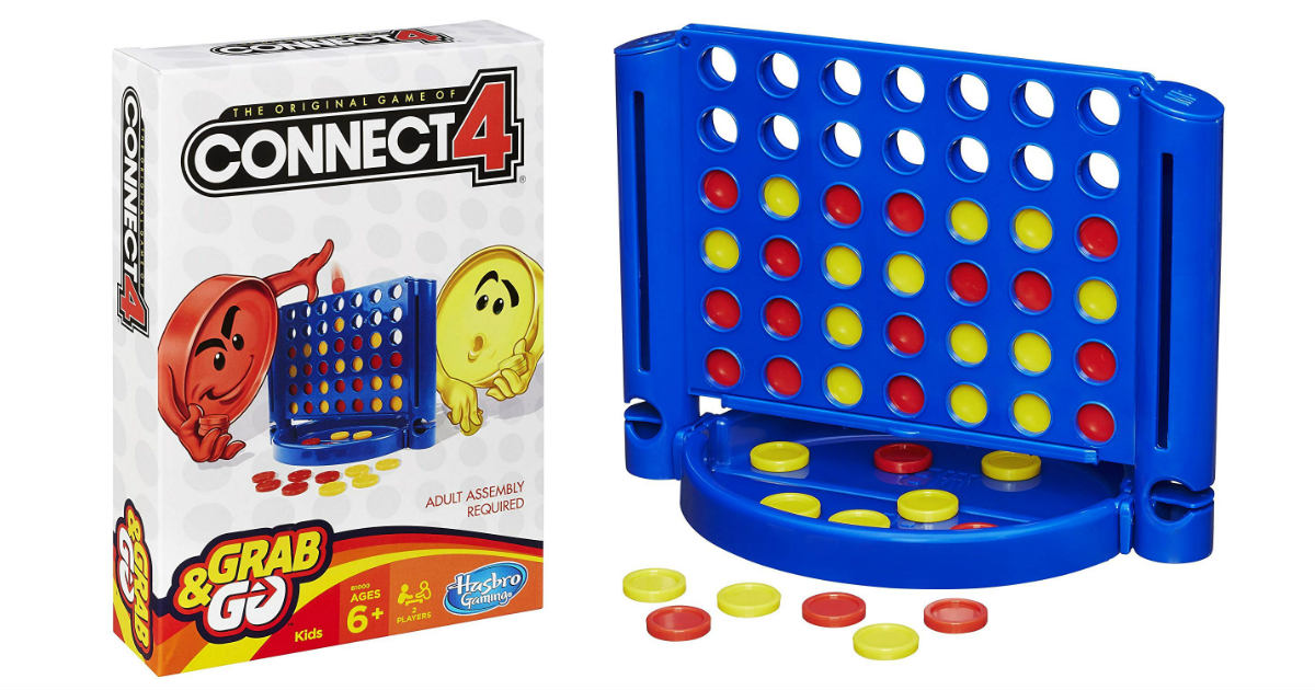 Connect 4 Travel Game ONLY $3.48 on Amazon (Reg. $8.99)